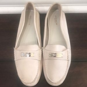 Coach loafers in white
